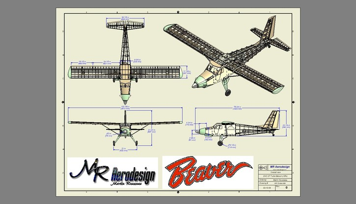 Turbo Beaver Plans Folded Aeromodelling Products Mr Aerodesign