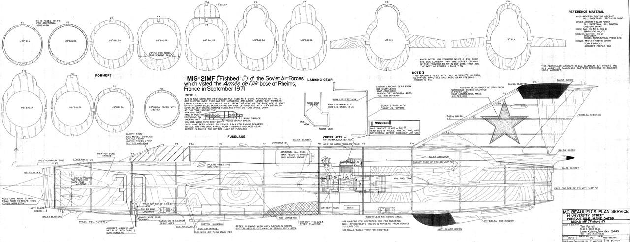 Mig 21 MF Fishbed Aeromodelling Products MR AeroDesign